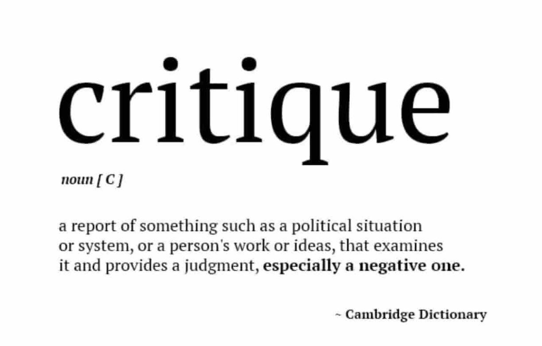 Kritik adalah