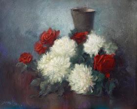 BASOEKI ABDULLAH Flower 55cm X 70cm Oil on canvas Rp.160jt Rp.180jt masterpiece